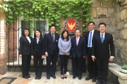 NIDA administrators pay a courtesy call on Ambassador of Thailand to Austria